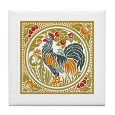 Country Rooster Tile Coaster