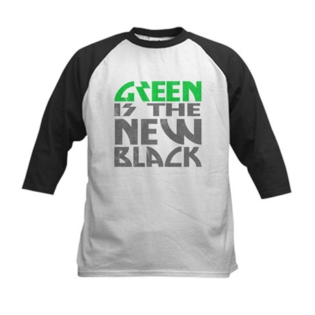 Green is the New Black Kids Baseball Jersey