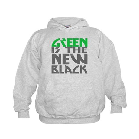Green is the New Black Kids Hoodie