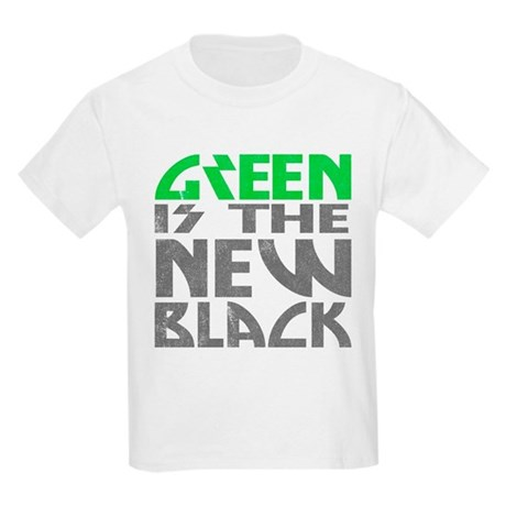 Green is the New Black Kids Light T-Shirt