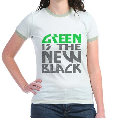 Green is the New Black Jr Ringer T-Shirt