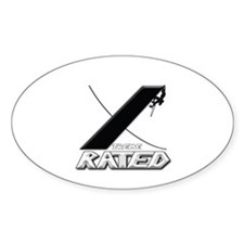 Xtreme Rated-Mountain Climbing Oval Decal
