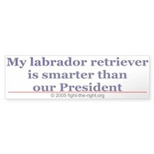 My labrador retriever is smarter (bumper sticker)