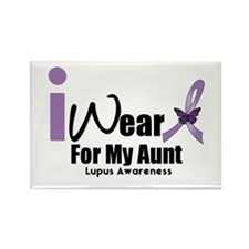 Lupus For Aunt Rectangle Magnet