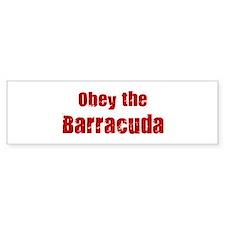Obey the Barracuda Bumper Bumper Sticker