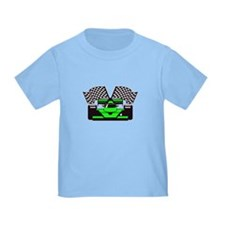 LIME GREEN RACE CAR T