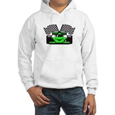 LIME GREEN RACE CAR Hoodie