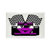 PURPLE RACE CAR Rectangle Magnet