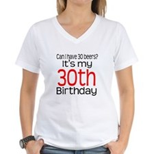 30th Birthday Beers Shirt