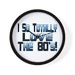 Love The 80's Wall Clock
