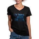 Love The 80's Women's V-Neck Dark T-Shirt