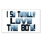 Love The 80's Rectangle Sticker 50 pk)