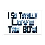 Love The 80's Mini Poster Print