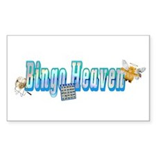 Bingo heaven Bumper Sticker Rectangle Sticker 50