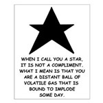 When I Call You A Star Small Poster