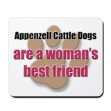 Appenzell Cattle Dogs woman's best friend Mousepad