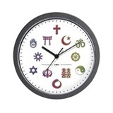 InterFaith/MultiFaith Pride Wall Clock