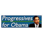 Progressives for Obama bumper sticker