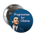 Progressives for Obama Campaign Button