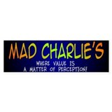 Mad Charlie's Bumper Car Sticker