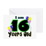 16th Birthday Greeting Cards (Pk of 10)