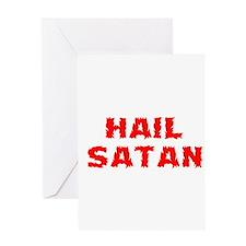 Hail Satan Greeting Card