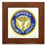 Emergency Ambulance Framed Tile