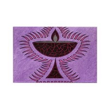 Purple Chalice Rectangle Magnet (100 pack)