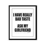 BAD TASTE Framed Panel Print