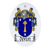 Devlin Coat of Arms Ornament (Oval)