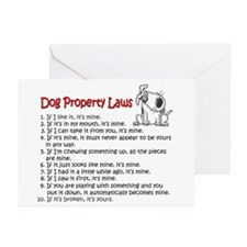 Dog Property Laws Greeting Cards (Pk of 10)
