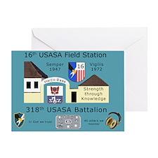 USASA Field Station Herzo Base Greeting Card