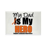 Leukemia Hero (Dad) Rectangle Magnet (10 pack)