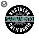 "Sacramento California 3.5"" Button (10 pack)"