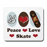 Peace Love Skate Skateboard Mousepad
