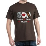 Peace Love Skate Skateboard Dark T-Shirt