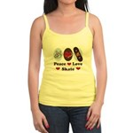 Peace Love Skate Skateboard Jr. Spaghetti Tank