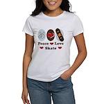 Peace Love Skate Skateboard Women's T-Shirt