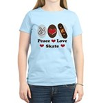 Peace Love Skate Skateboard Women's Light T-Shirt