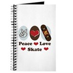 Peace Love Skate Skateboard Journal