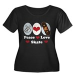 Peace Love Skate Skateboard Women's Plus Size Scoo