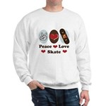 Peace Love Skate Skateboard Sweatshirt