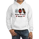 Peace Love Skate Skateboard Hooded Sweatshirt