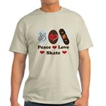 Peace Love Skate Skateboard Light T-Shirt