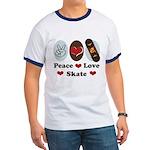 Peace Love Skate Skateboard Ringer T