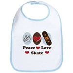 Peace Love Skate Skateboard Bib