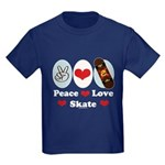 Peace Love Skate Skateboard Kids Dark T-Shirt