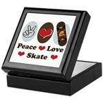 Peace Love Skate Skateboard Keepsake Box