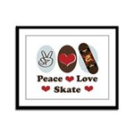 Peace Love Skate Skateboard Framed Panel Print