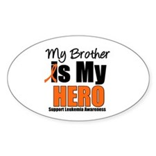 Leukemia Hero (Brother) Oval Sticker (10 pk)